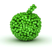 Apple with many aple. Green apple bilded from other apples royalty free illustration