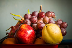 Apple and many fruits Royalty Free Stock Images