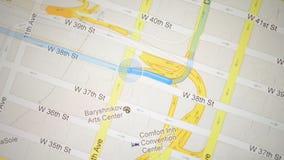 Apple Maps application on an iPad screen. stock footage
