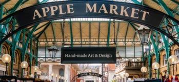 Apple market in Covent Garden Stock Image