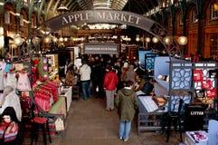 Apple Market in Covent Garden, London, United Kingdom stock image