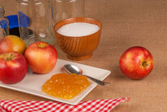 Apple marmalade ingredients Stock Images