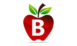 Apple marquent avec des lettres B Logo Design Template Photos stock