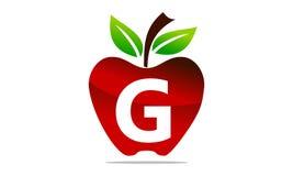 Apple marquent avec des lettres G Logo Design Template Images libres de droits