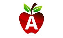 Apple marquent avec des lettres Logo Design Template Photos stock
