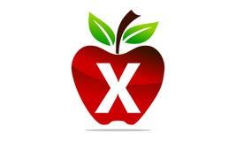 Apple marquent avec des lettres X Logo Design Template illustration stock