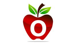 Apple marquent avec des lettres O Logo Design Template illustration stock