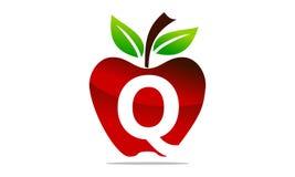 Apple marquent avec des lettres Q Logo Design Template Photographie stock libre de droits