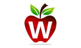 Apple marquent avec des lettres W Logo Design Template Images stock