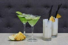 Apple martini και κοκτέιλ colada pina Στοκ Εικόνα