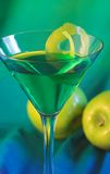 Apple martini. Cocktail stock photos