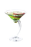 Apple martini cocktail. Isolated on white background Royalty Free Stock Photo