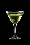 Apple martini coctail Arkivbild