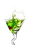 Apple Martini. Isolated on white Royalty Free Stock Photos