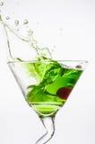 Apple Martini. Splash not isolated on white Stock Image