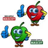Apple-Maskottchen Lizenzfreies Stockbild