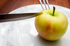 Apple meal Stock Photography