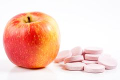 Apple means vitamins Royalty Free Stock Images