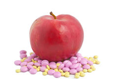 Apple Means Vitamins Stock Image
