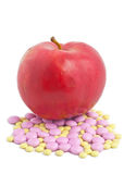 Apple Means Vitamins Stock Photos