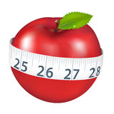 Apple With Measurement Royalty Free Stock Images