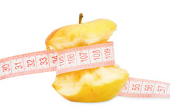Apple with measurement Royalty Free Stock Photography