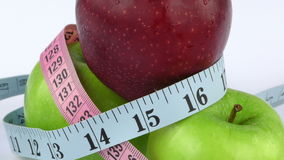 Apple and Measurement Diet Fit Life Concept stock video
