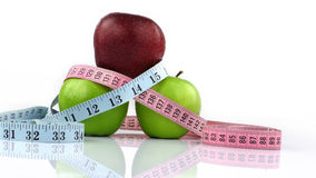 Apple and Measurement Fit Life Concept Stock Photography