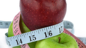 Apple and Measurement Fit Life Concept Stock Image