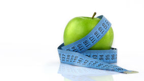 Apple and Measurement Fit Life Concept Royalty Free Stock Photos