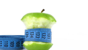 Apple and Measurement Fit Life Concept Royalty Free Stock Photography