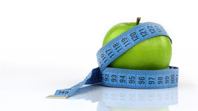 Apple and Measurement Fit Life Concept Royalty Free Stock Images