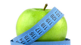 Apple and Measurement Fit Life Concept Stock Photo