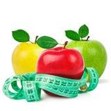 Apple with measurement Stock Photo