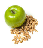 Apple med granola Arkivbild