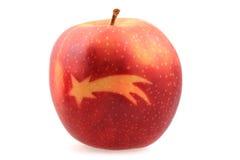 Apple med julsymboler Royaltyfri Fotografi