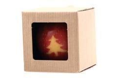 Apple med julsymboler Arkivbilder