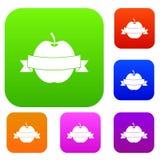 Apple med samlingen för banduppsättningfärg Fotografering för Bildbyråer