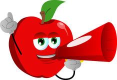 Apple with megaphone Stock Image