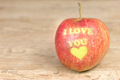 Apple with message Stock Photo
