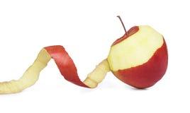 Apple met gepelde huid Stock Fotografie