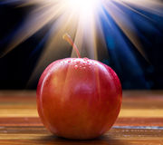 Apple met gloed stock afbeelding