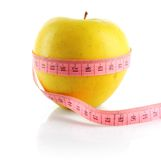 Apple with meter Royalty Free Stock Images