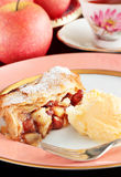 Apple mincemeat strudel Royalty Free Stock Photography