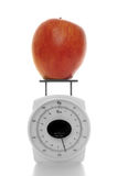 Apple on a miniature scale Royalty Free Stock Photos