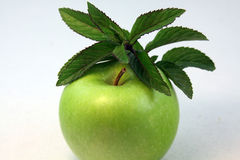 Apple and Mint royalty free stock images