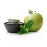 Apple & Mint Royalty Free Stock Images