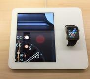Apple mira Foto de archivo