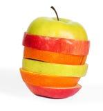 Apple mischen lokalisiert auf Weiß Lizenzfreie Stockfotografie