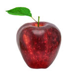 Apple mit Blatt lizenzfreies stockfoto